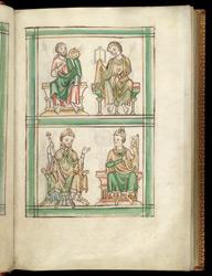 St. John The Baptist, St. John The Evangelist, And Two Bishops, In A Psalter